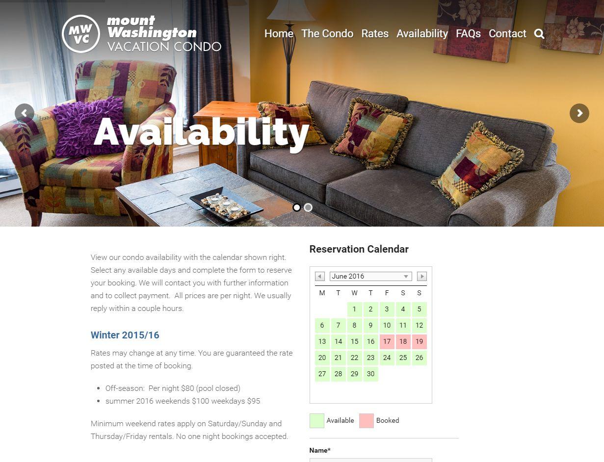 Availability – Mt  Washington Vacation Condo Www Mtwashingtonvacationcondo Com Availabilit01410