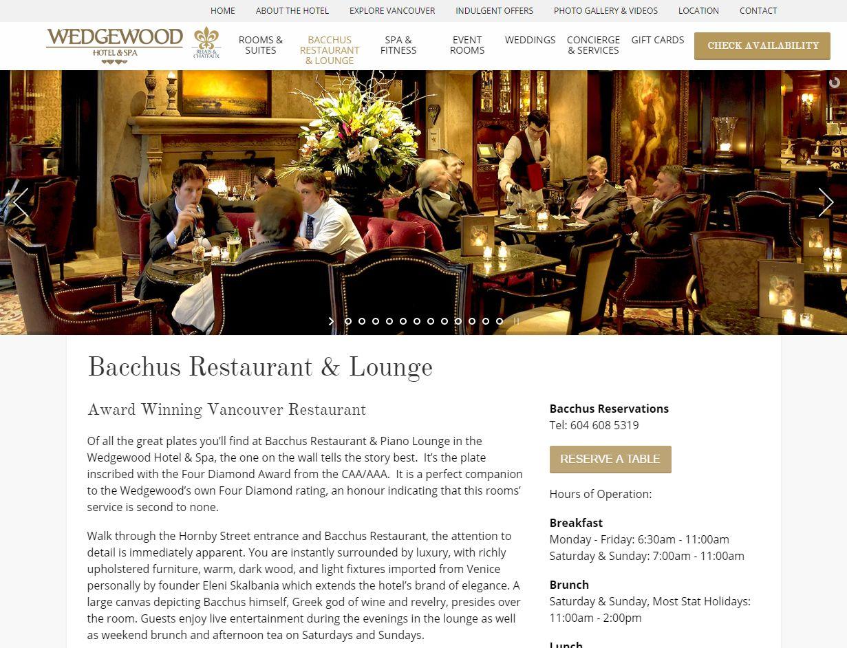 Bacchus Restaurant & Lounge I Vancouver Restaurant Www Wedgewoodhotel Com Restaurant Loung01757