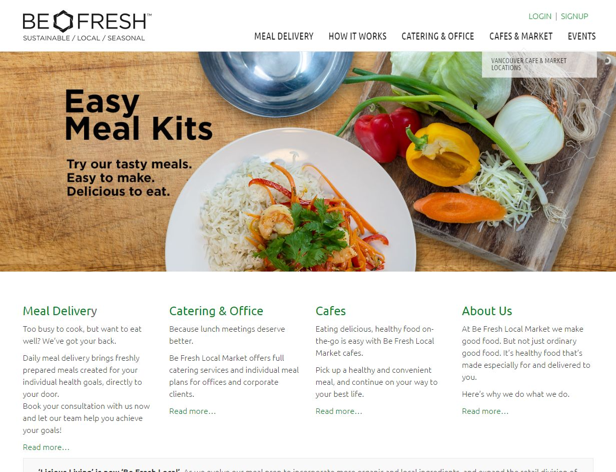 'Be Fresh Local Market I Fresh, Local And Organic Goodness' – Www Befresh C00546
