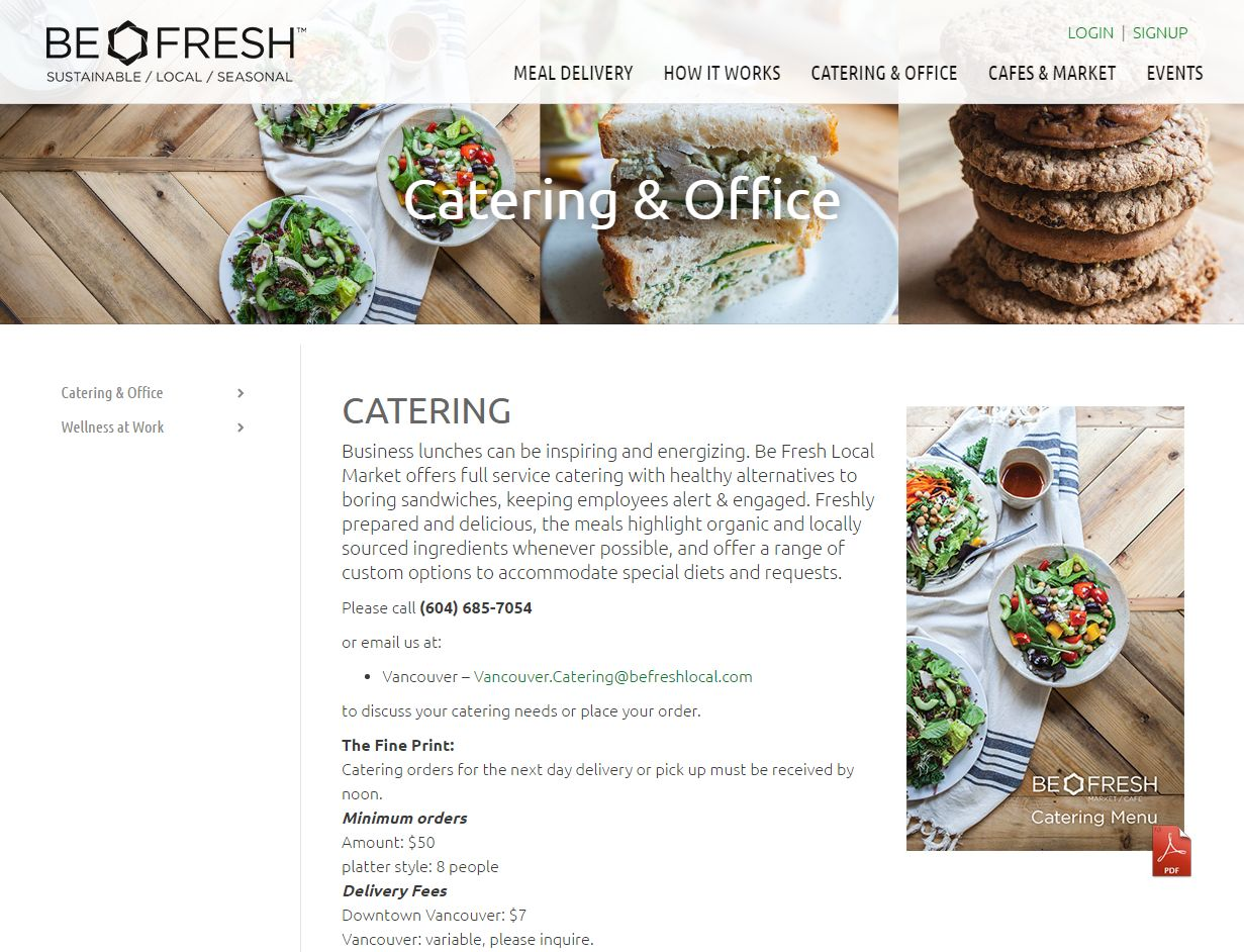 'Downtown Vancouver Office Catering' – Www Befreshlocal Com Catering Offic00623