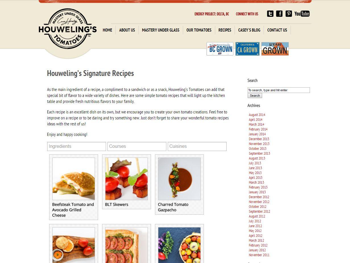 Houweling's Signature Recipes Www Houwelings Com Blog Recipe B03129