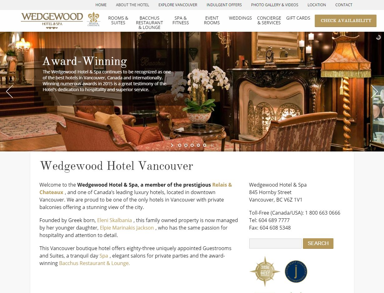 Luxury Boutique Vancouver Hotel I Wedgewood Hotel & Spa Www Wedgewoodhotel Co01506