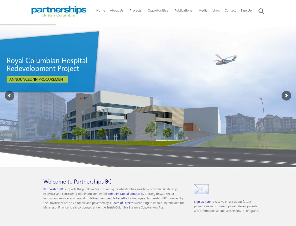 Partnerships BC I Serving British Columbians Through The Planning, Delivery And Oversight Of Major Infrastructure Projects  Www Partnershipsbc C02324