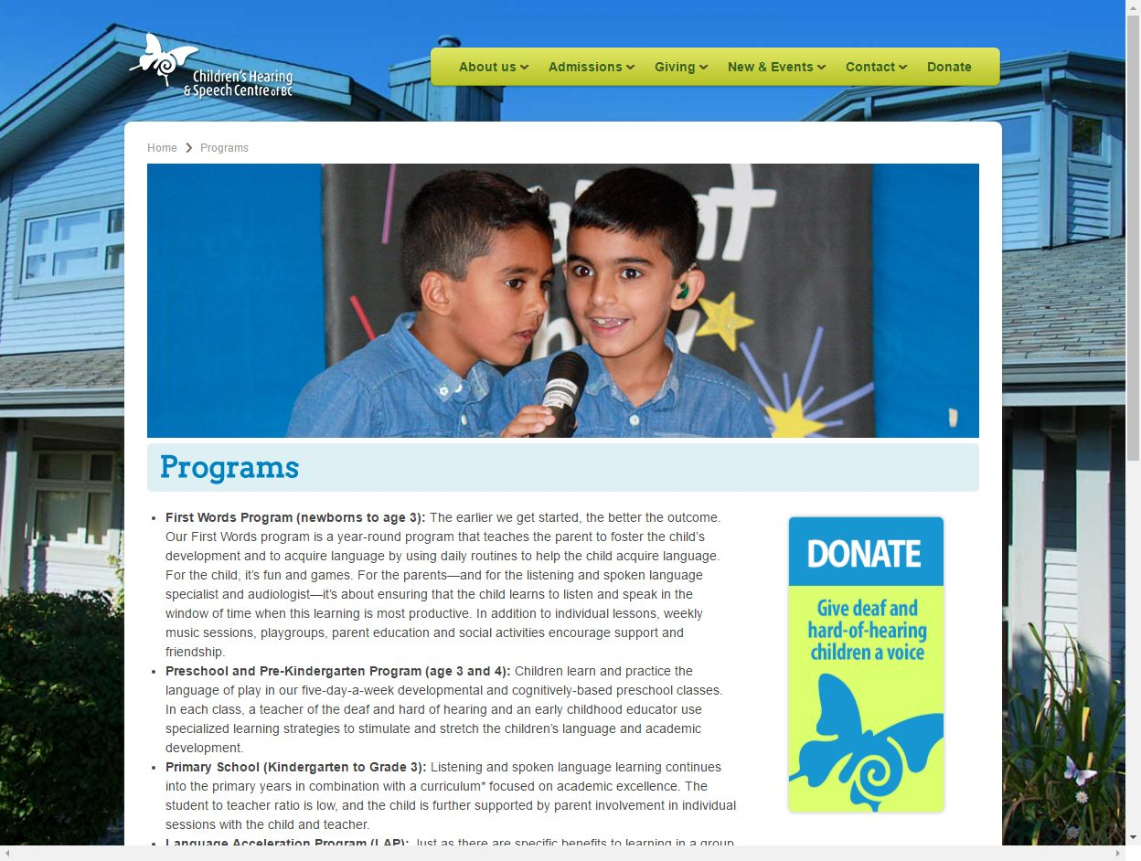 Programs I Children's Hearing & Speech Centre Of BC Childrenshearing Ca Progra03458