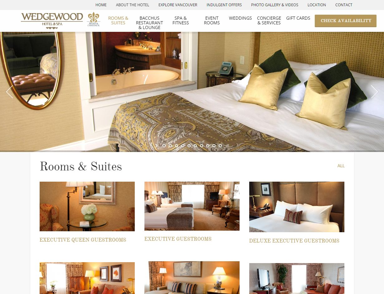 Rooms & Suites I Wedgewood Hotel & Spa Www Wedgewoodhotel Com Rooms Suite01628