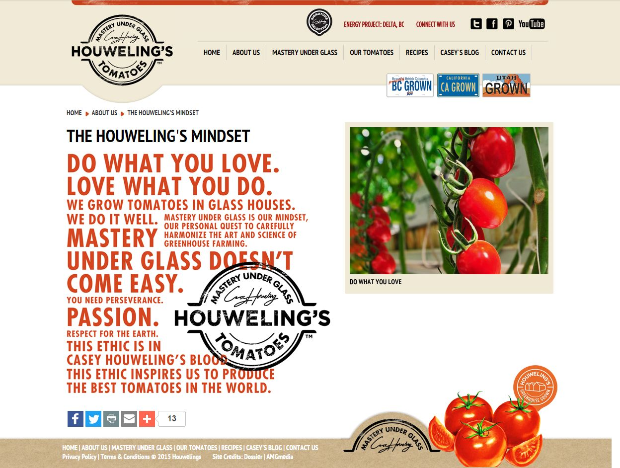 The Houweling's Mindset I About Us I Welcome To Houweling's Www Houwelings Com Files 2 Who We Are P03007
