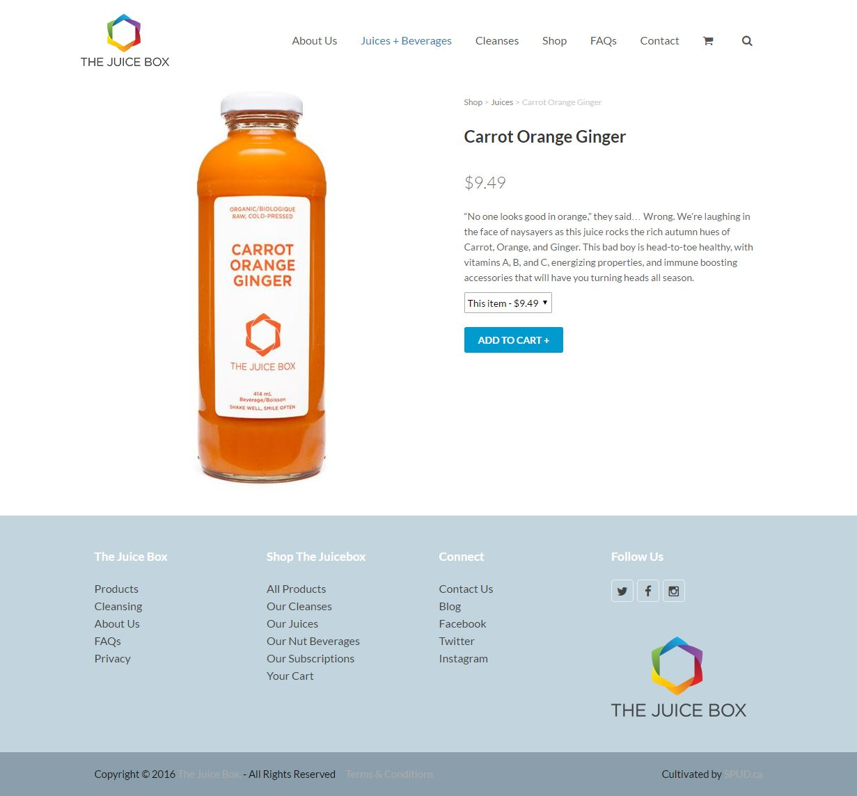 'The Juice Box' – Shop Thejuicebox Ca Products Carrot Orange Ging00234